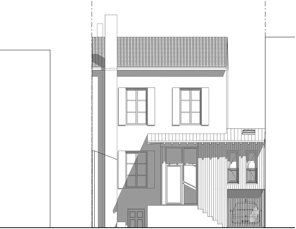 Elevation D Un Plan : Extension et surélévation d une maison de ville pa