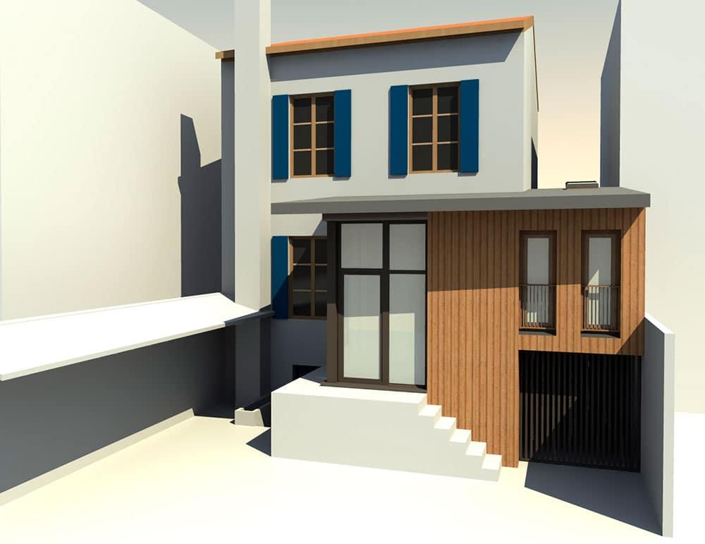 Extension d'une maison de ville à Albi