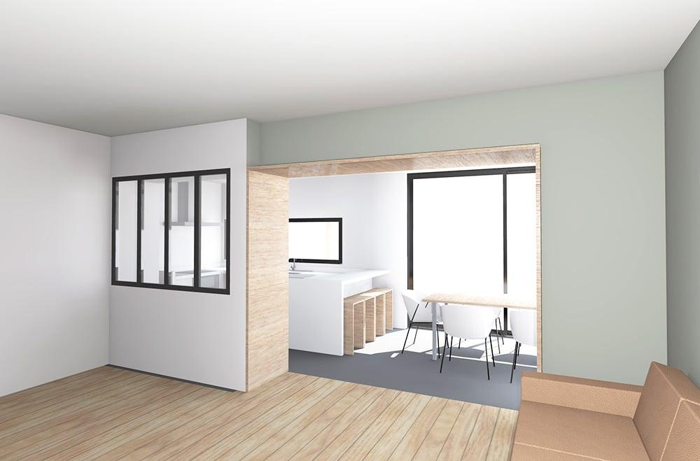 Extension et rénovation d'une maison ambiance