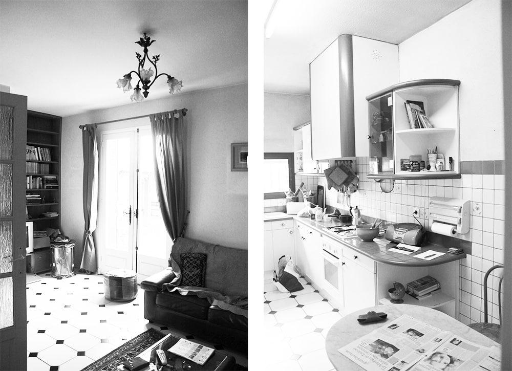 Extension d'une maison photo de l'existant intérieure