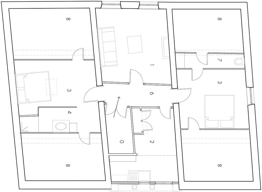 Rénovation appartement bourgeois plan existant